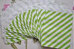 Obalový materiál - papierovy sacok zelene pruhy - 3958167_