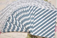 Obalový materiál - papierovy sacok modre pruhy - 3958287_