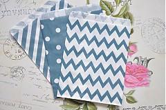 Obalový materiál - papierovy sacok modre trio - 3958311_