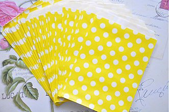 Obalový materiál - papierovy sacok zlta bodka - 3958102_