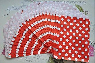 Obalový materiál - papierovy sacok cervena bodka - 3958536_