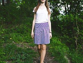 Sukne - Pruhovaná čierno-biela sukňa - 3956125_