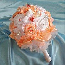 Kytice pre nevestu - Látková svadobná kytica, rôzne farby - 3955020_