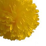 Papiernictvo - pom pom klasik žltá 35 cm - 3958656_