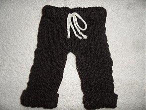 Detské oblečenie - pletené nohavice pre drobčeka - 3957826_