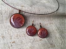 Sady šperkov - červeno-zlaté v medi - 3955907_