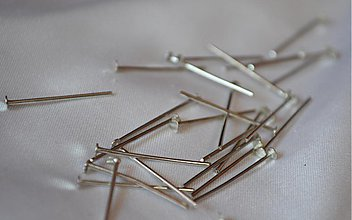 Komponenty - Ketlovacie nity strieborné, 20mm, 0.12€/10ks - 3956456_
