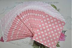 Obalový materiál - papierovy sacok staroruzova bodka - 3959039_