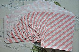 Obalový materiál - papierovy sacok staroruzove pruhy - 3959022_