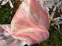 Šály - Magnolie /hedvábná šála 35 x 130 cm/ - 3961141_