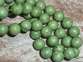 Minerály - Tyrkys synt. zelený 10mm - 3962304_