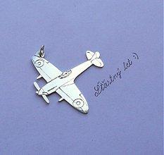 Šperky - prívesok lietadlo - 3961057_