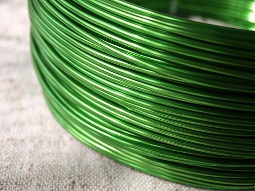hliníkový drôt 2mm ZELENÝ