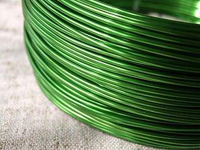 Suroviny - hliníkový drôt 2mm ZELENÝ - 3964164_