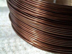 Suroviny - hliníkový drôt 2mm HNEDÝ TMAVÝ - 3964187_