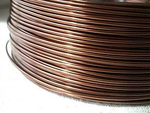 Suroviny - hliníkový drôt 2mm HNEDÝ SVETLÝ - 3964212_