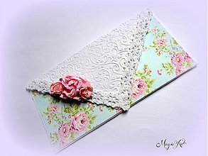 Papiernictvo - Shabby Chic obálôčka - 3963881_