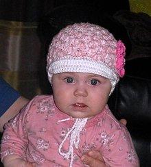 Detské čiapky - Bielo ruzova bekovka pre najmensich - 3965092_