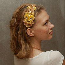 Ozdoby do vlasov - Sluneční paprsky ... čelenka - 3966765_