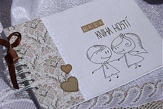 Papiernictvo - Svadobná kniha hostí - na želanie - 3966952_