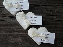 Darčeky pre svadobčanov - sviečky pre hostí/ďakujeme pre SREDI - 3966036_