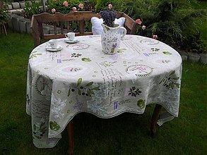 Úžitkový textil - Ľanový obrus Provence - 3967034_