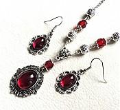Sady šperkov - červená trilógia - 3970288_