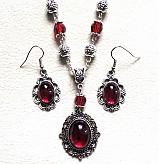 Sady šperkov - červená trilógia - 3970289_