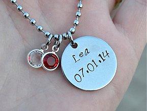 Náhrdelníky - MENO + DÁTUM náhrdelník - 3972357_
