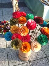 Dekorácie - drevené ruže  - 3970218_