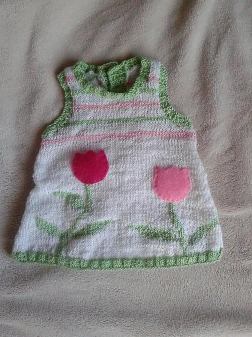 c63866a5e51e Pletené šaty pre bábätko   Agina - SAShE.sk - Handmade Detské oblečenie