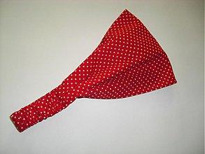 Ozdoby do vlasov - Čelenka- červené bodky - 3972982_