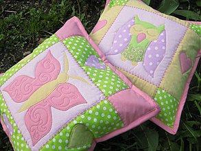 Textil - sova s motýľom - 3971270_