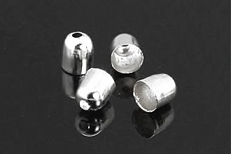 Komponenty - KAP4570, KAPLÍK Hladký 5x4mm STRIEBRO /10ks - 3969710_