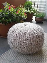 Úžitkový textil - Puf chlpatý - 3970725_
