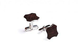 Šperky - Drevené manžetové gombíky Flovea - 3976659_