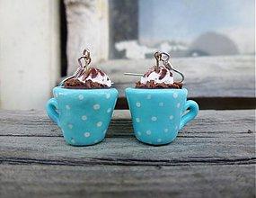 Náušnice - Horúca čokoláda - 3976125_