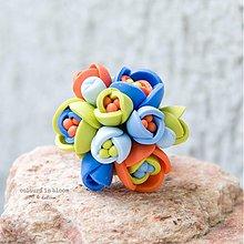 Prstene - oranžovo-modrý prsteň - 3975778_