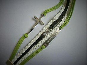 Náramky - náramok 7 kríž - 3974113_