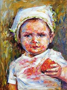 Obrazy - Jahôdka II. - nepredajné - 3976558_