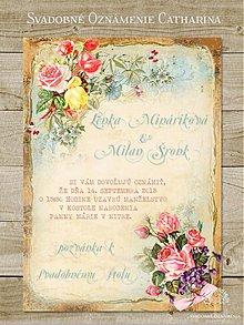 Papiernictvo - Svadobné oznámenie Catharina - 3976194_