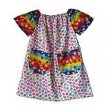 Detské oblečenie - Labkové šatence s vreckami a kapsička 98-104-110 - 3974520_