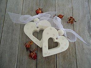 Darčeky pre svadobčanov - Srdiečko s guličkou svadobné - 3978074_
