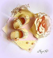 Papiernictvo - Črievičky malej princeznej... - 3978700_