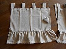 Úžitkový textil - Vintage závesy do kuchynky:-) - 3977859_