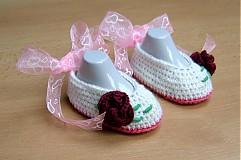 Topánočky - Bordová ruža - 3982402_