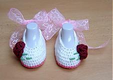 Topánočky - Bordová ruža - 3982404_