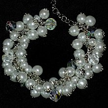 Náramky - Biely svadobný náramok - 3981412_