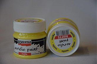 Farby-laky - Matná akrylová farba,50 ml, vanilka - 3982582_