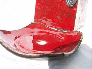 Nádoby - mydelnička červená - 3980174_